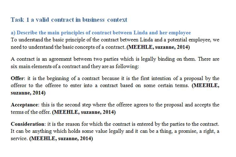 Unit 5 Aspects of Contract and Negligence Sample Assignment - assignment of contract