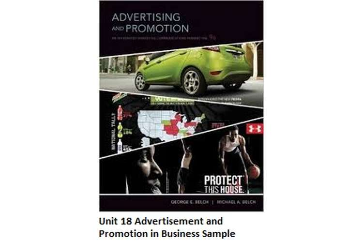 Unit 18 Advertisement and Promotion in Business Sample Solution