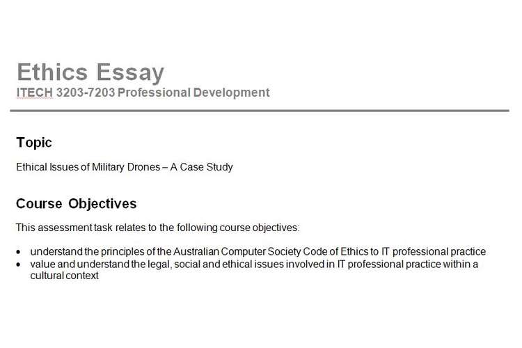Ethical Issues Military Drones Assignment Questions Assignment Help