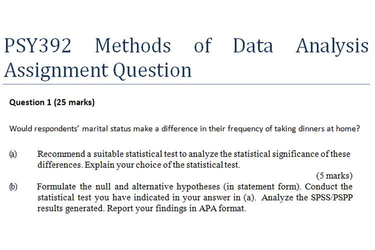 PSY392 Methods of Data Analysis Assignment Question 20 off