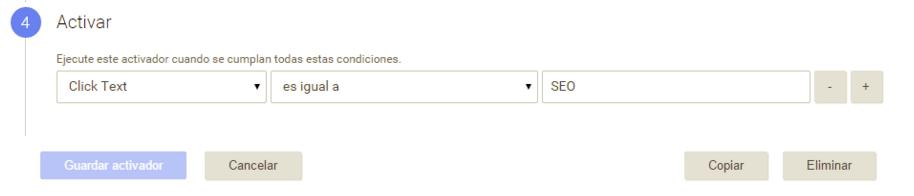 Configurar expresión regular en Google Tag Manager