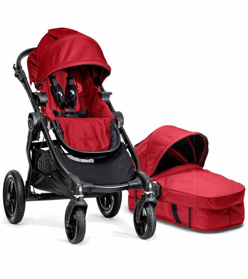 Jogger Stroller With Bassinet Baby Jogger City Select Stroller Bassinet Red