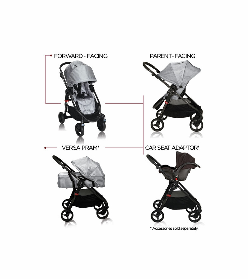 Car Seat Adapter For City Select Baby Jogger City Versa Stroller Silver