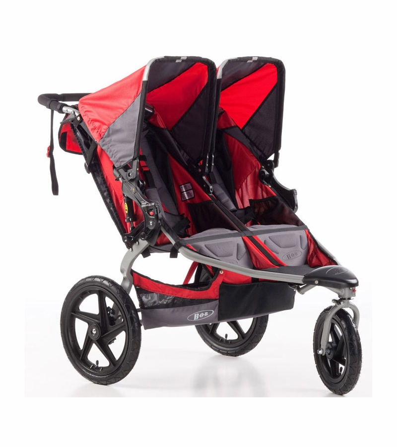 Bob Stroller Reviews Bob Strides Duallie Fitness Double Stroller Red