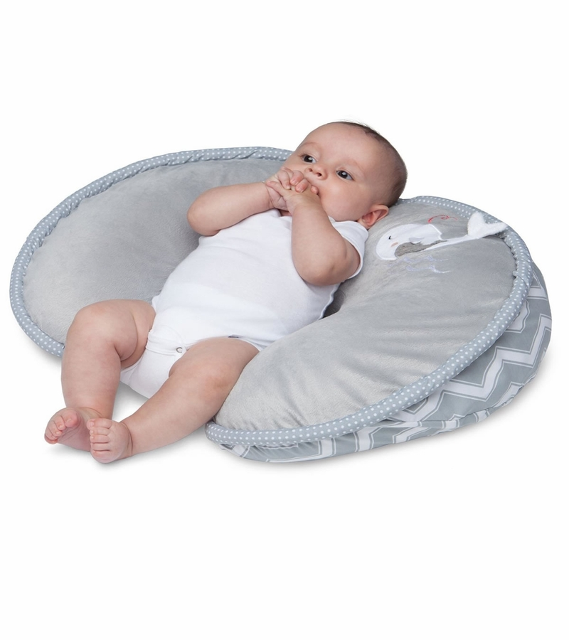 Boppy Pillow With Luxe Slipcover Gray Whales - Babies R Us Infant Pillow