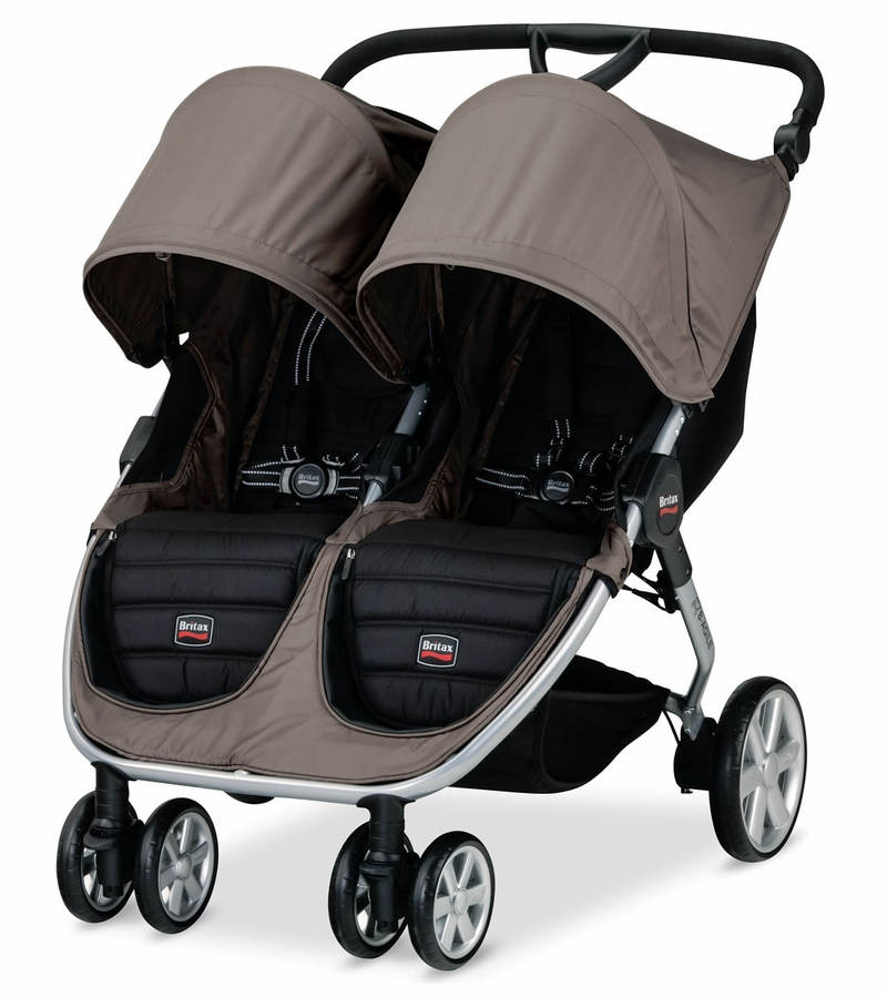 Britax Double Pushchair Reviews Britax B Agile Double Stroller Sandstone
