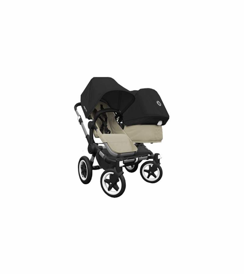 Bugaboo Car Seat Adapter Graco Bugaboo Donkey Duo Stroller In Sand Black