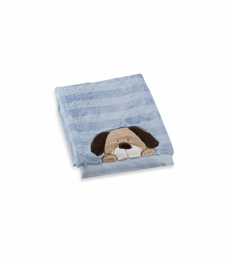 Infant Toddler Books Carter 39;s Cushy Soft Blanket In Blue With Dog
