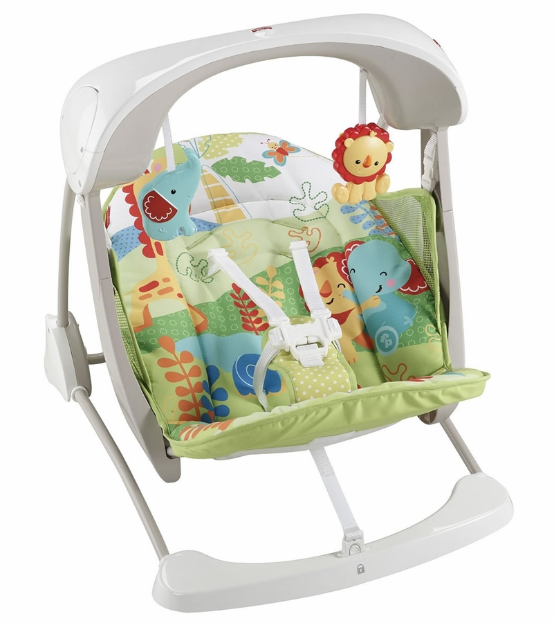 Fisher Price Rainforest Friends Deluxe Take Along Swing Seat