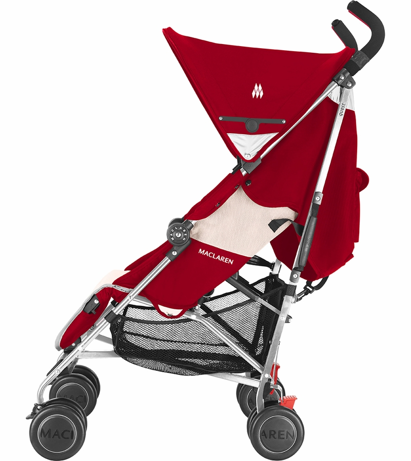 Double Buggy Out N About Maclaren Quest Sport Stroller Scarlet Wheat