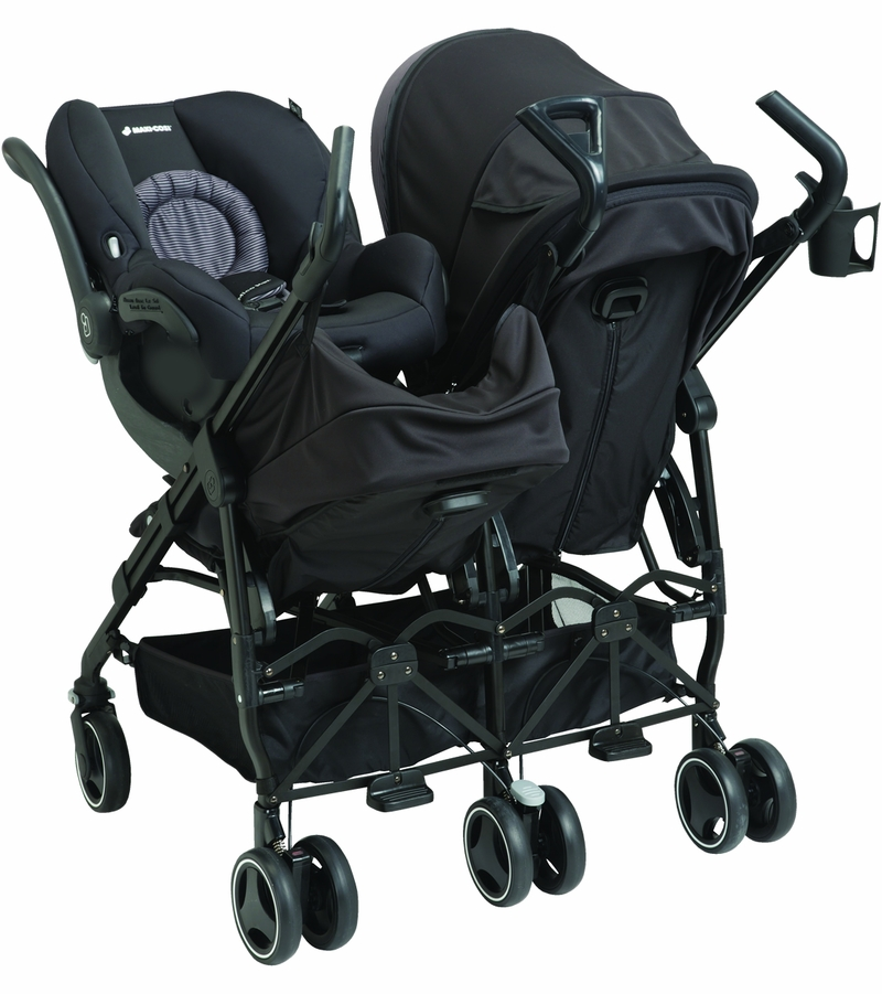 Twin Stroller Quinny Maxi Cosi Dana For2 Double Stroller Devoted Black