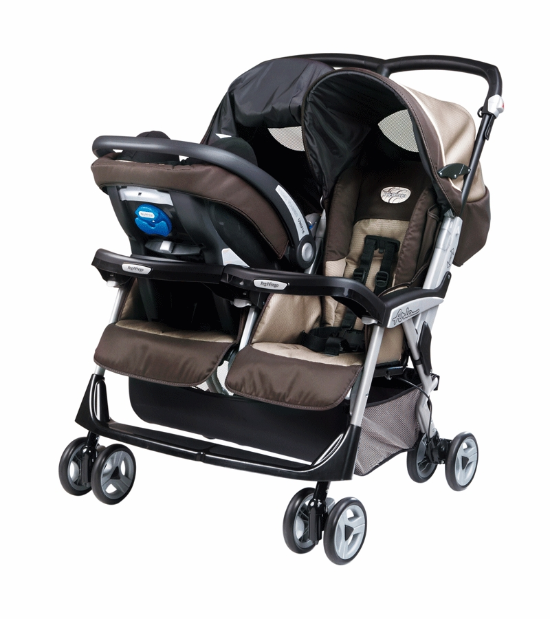 Peg Perego Aria Twin Stroller Peg Perego Aria Twin 60 40 Double Stroller In Java