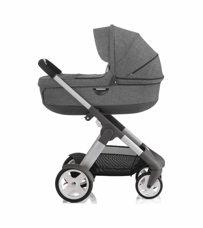 Kinderwagen Stokke Trailz Black Melange Stokke Crusi Trailz Carrycot Black Melange