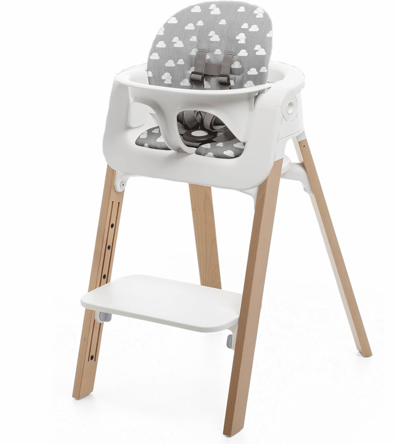 Stokke Steps Chair Cushion No Tray White Natural