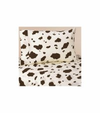 Sweet JoJo Designs Wild West Cowboy Twin Sheet Set - Cow Print