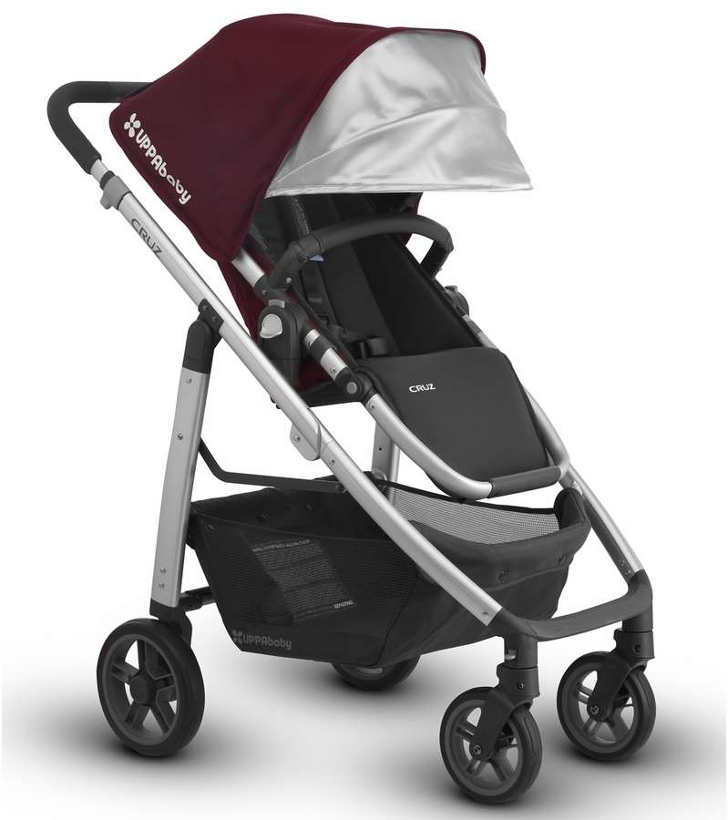 Uppababy Car Seat Stroller Uppababy 2017 Cruz Stroller Dennison Bordeaux Silver