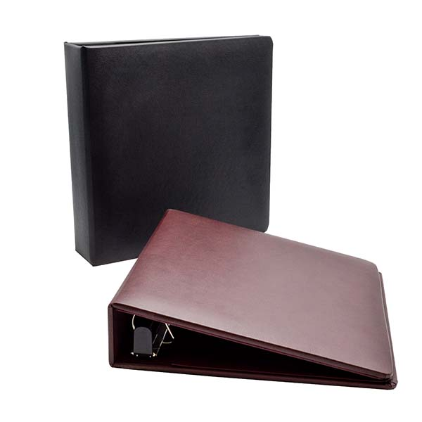 One-Touch™ 3-Ring Leather Binder