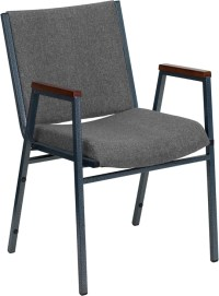 HERCULES Series Heavy Duty Gray Fabric Stack Chair with ...