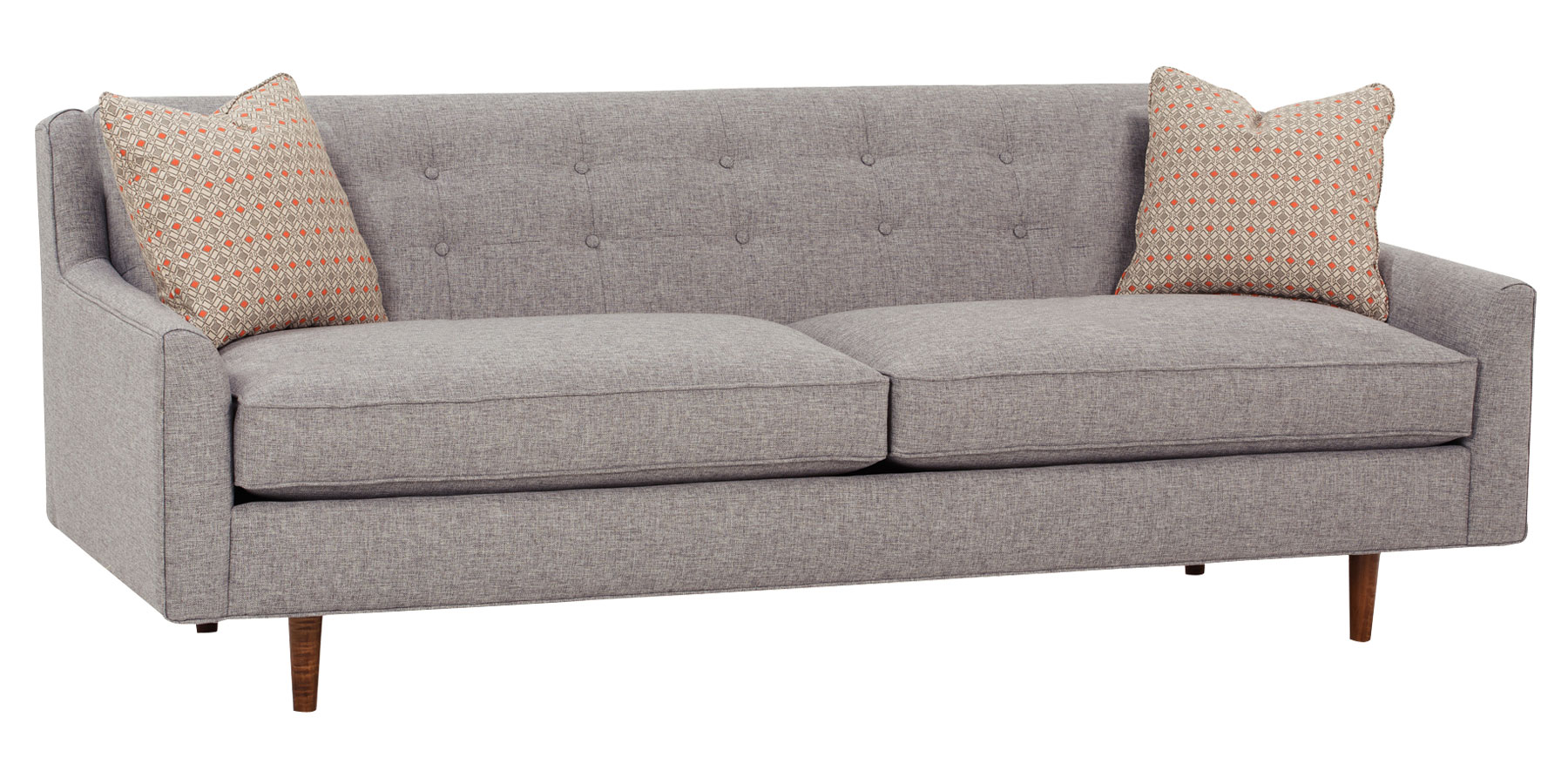 Mid Century Modern Sleeper Sofa Mid Century Fabric Sofa Group With Inset Legs Club Furniture