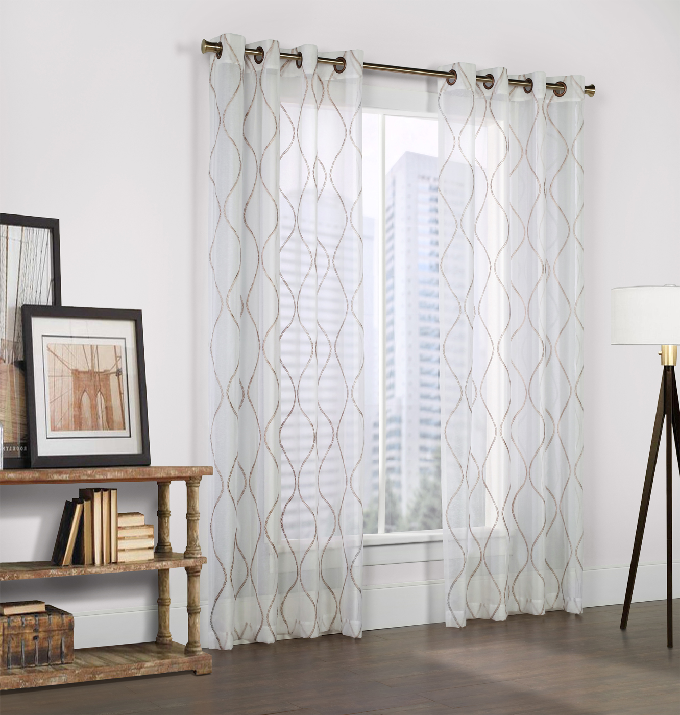 Curtain Sheers With Grommets Sheer Curtains With Grommets