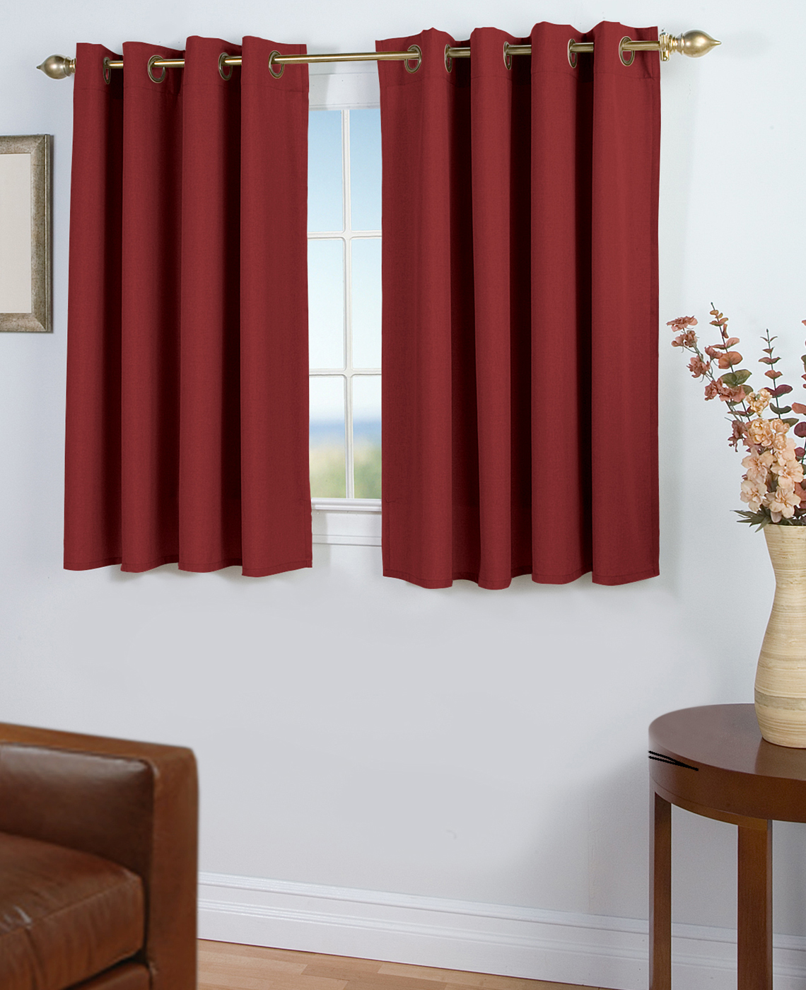 Cotton Curtain Panels 45 Inch Long Curtains Thecurtainshop