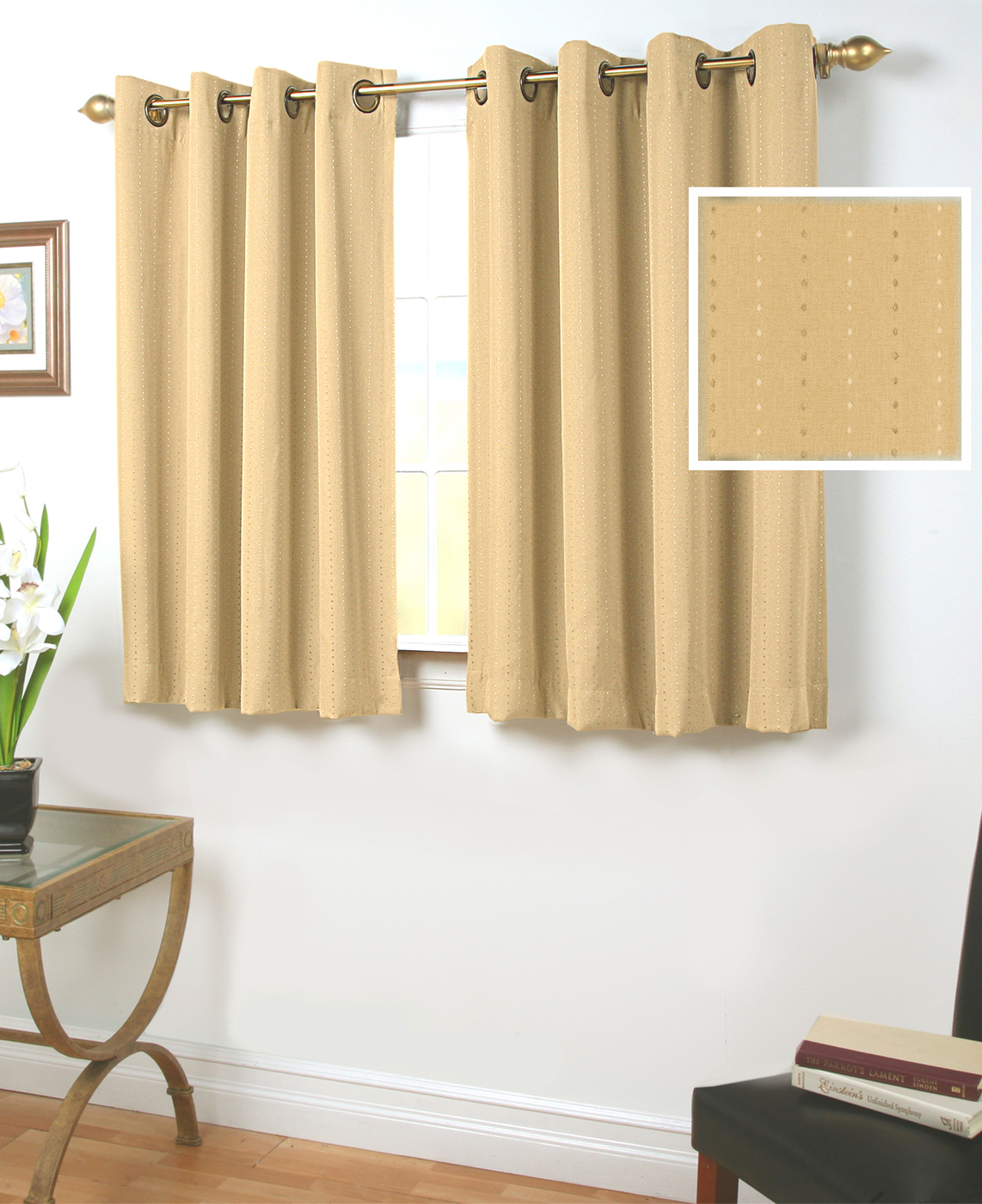 24 Inch Kitchen Curtains 45 Inch Long Curtains Thecurtainshop