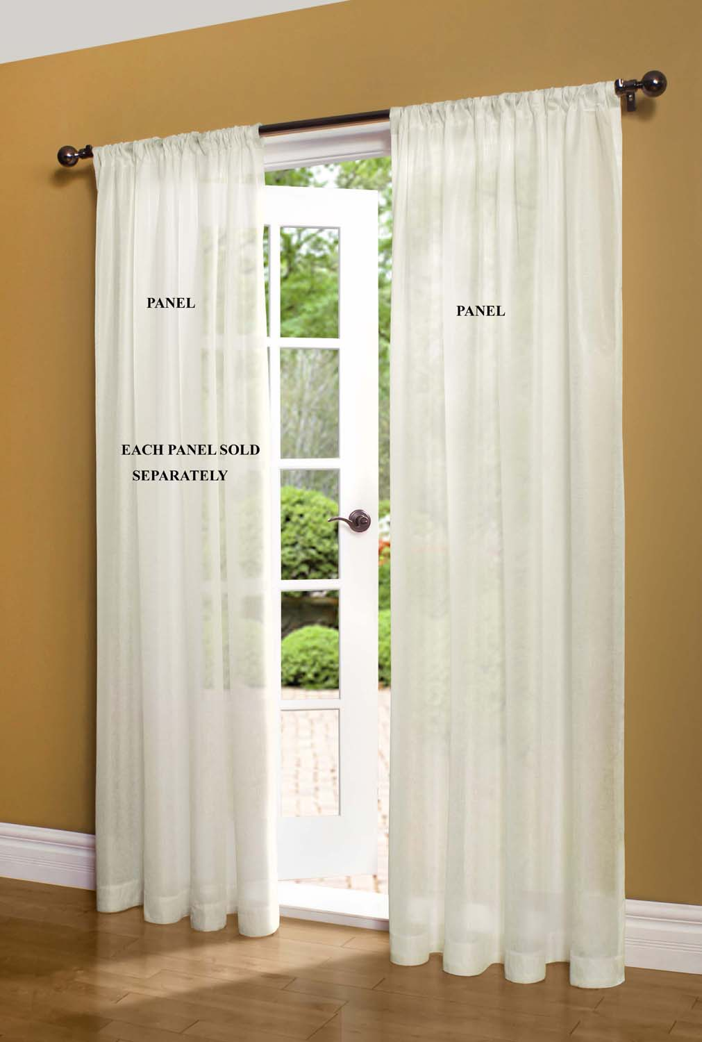Panel Curtain Rods Sheer Curtain And Door Panels Sheer Curtain Panels At