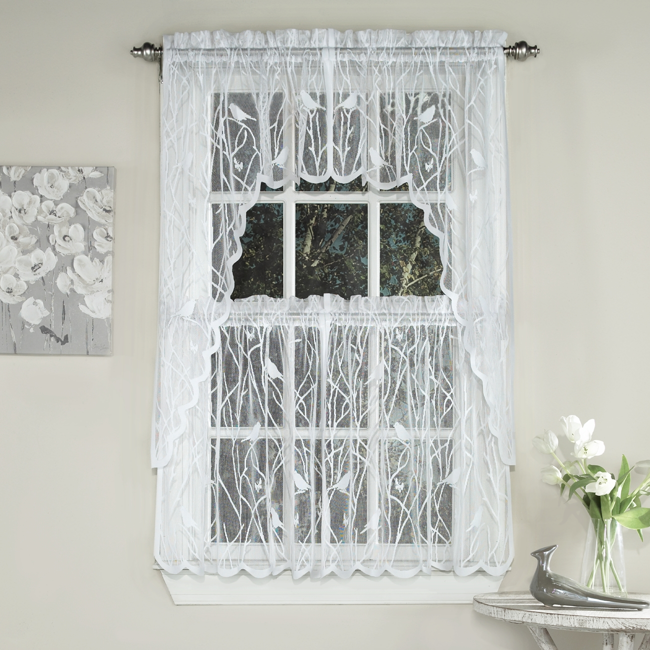 Kitchen Tier Curtains Sets Songbird Sheer Kitchen Curtains