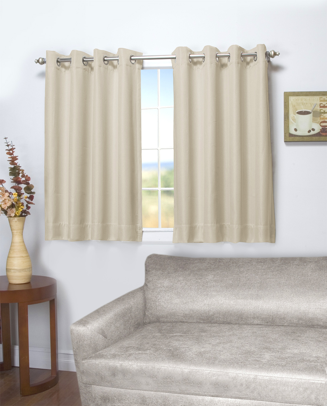 24 Inch Kitchen Curtains Tacoma Double Blackout And Insulated Grommet Panel