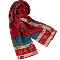 Silk Scarves for Women with Museum Designs