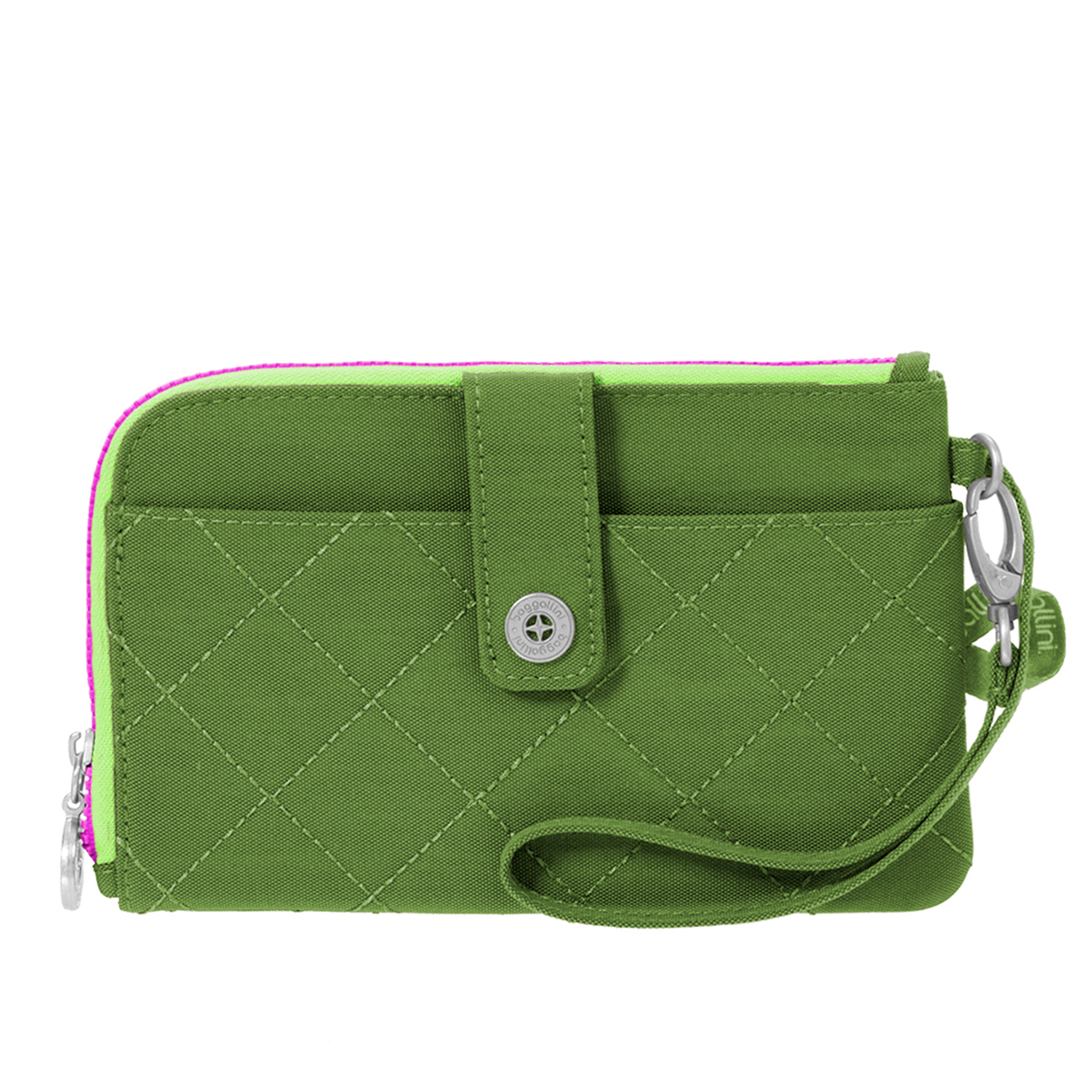 Passport Bedding Accessories Baggallini Green Kiwi Rfid Passport And Phone Wristlet