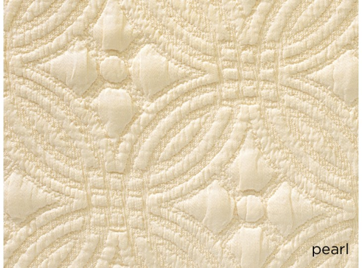 Peacock Alley Lucia 115x98 King Coverlet Pearl