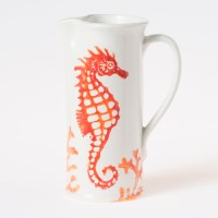 Vietri Costiera Coral Seahorse Medium Pitcher