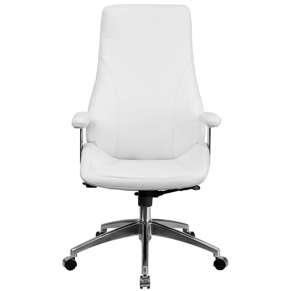 Ergonomic Home High Back White Leather Executive Swivel