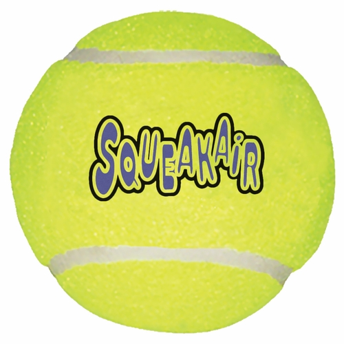 Air KONG Squeaker Tennis Ball - LARGE - why is there fuzz on a tennis ball