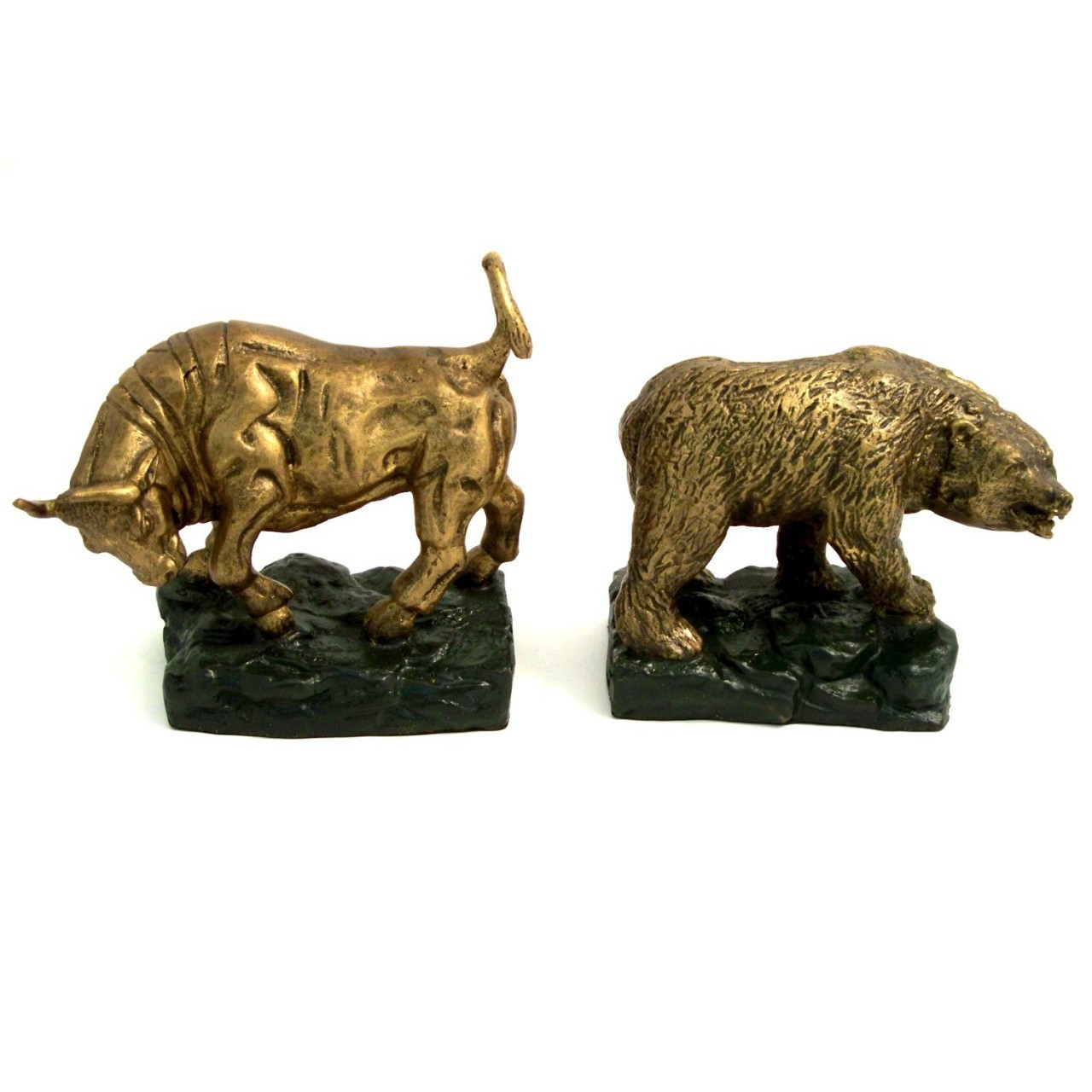 Bull And Bear Gifts Bull And Bear Brass Bookends Executive Gift Shoppe