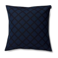 Marimekko Quilt Navy Throw Pillow