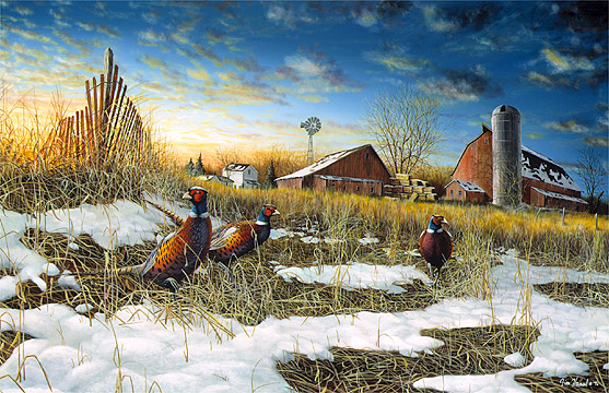 Fall Cabin Wallpaper Jim Hansel Hand Signed And Numbered Limited Edition Canvas