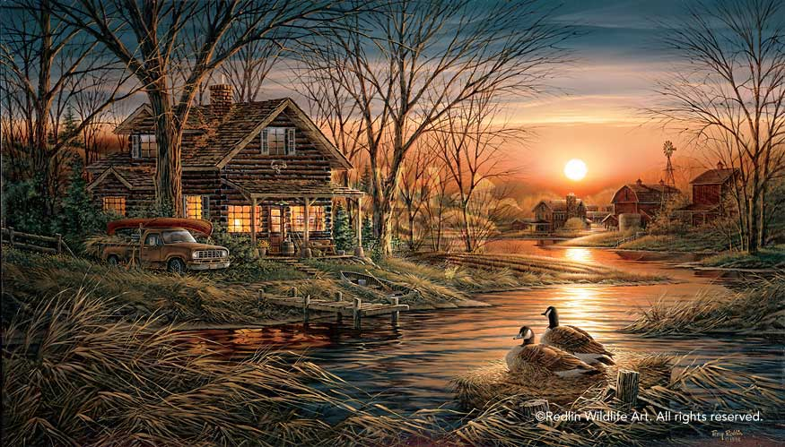 Thomas Kinkade Fall Wallpaper Terry Redlin Museum Edition Oversize Canvas Quot Shoreline