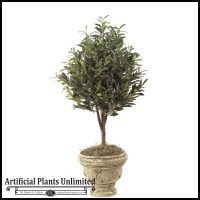 3' Artificial Olive Tree Topiary