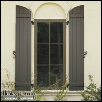 Arched Shutters - Exterior Window Shutters by Hooks & Lattice