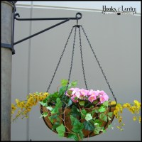 Commercial Hanging Basket Brackets - Heavy Duty - Wrought Iron