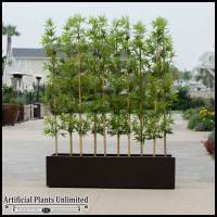 Outdoor Artificial Bamboo in Modern Planters - Planters ...