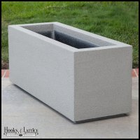 Poly-Cast Stone Large Outdoor Planters - - Hooks & Lattice