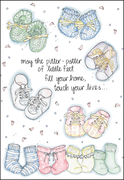 Shop for Welcome Baby Cards and Other Find Gifts it takes two, inc