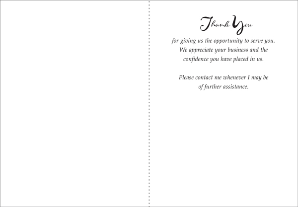 Quality Thank You Note for Business Note Cards, Greeting Cards and