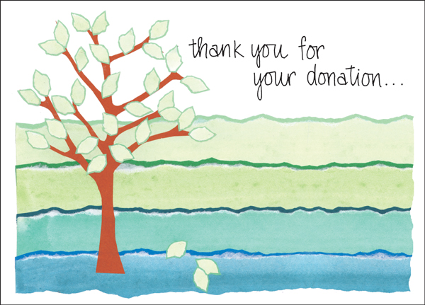 Charity Card Donation Thank You Cards Order Thank You Notes - thank you note