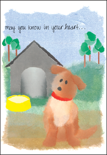 Dog Loss Sympathy Cards for Veterinarians it takes two, inc