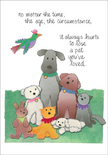 Beautiful Loss of Pet Cards it takes two, inc