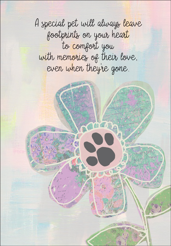 Tender Footprints Pet Sympaty Cards it takes two, inc